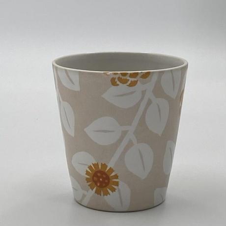 香田昌恵 フリーカップ (花柄・オレンジ)