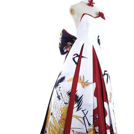 (タコニャン)TakoNyan FATE コースプレー ホワイト ワンピース 礼服 花嫁 同人服装 カツラ付き