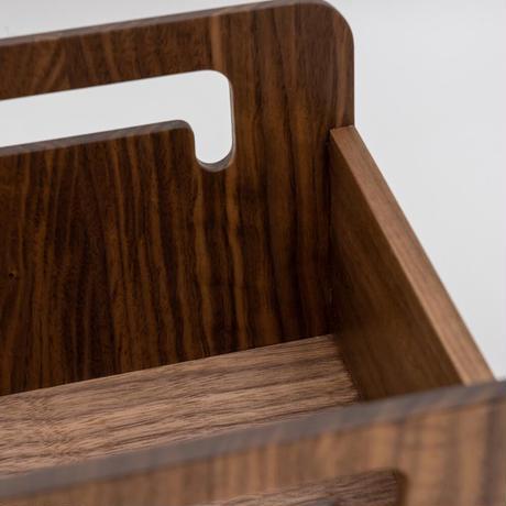 木製リビングBOX ブラックウォールナット