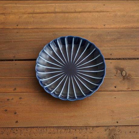 ぎやまん陶〜5寸皿〜 茄子紺ブルー