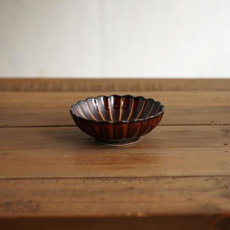 ぎやまん陶〜丸小皿〜 漆ブラウン