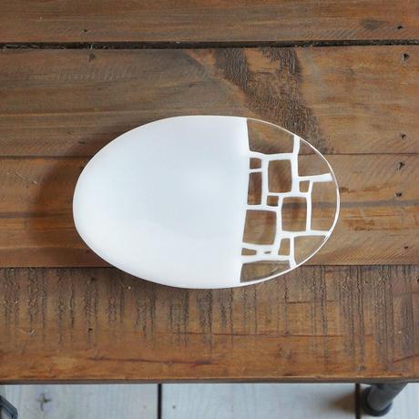 サブロウ 楕円皿小b 〜白〜
