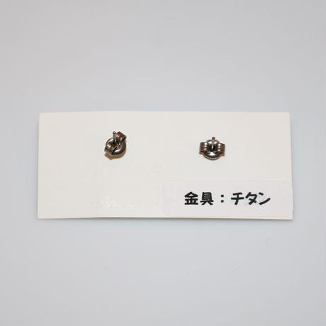 ピアス 〜お花 金箔入り〜 SAKURABO GLASS