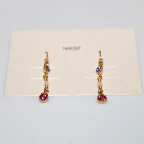 ピアス 〜KGF003 purple × rose〜  Tournesol