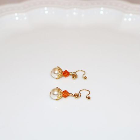 イヤリング 〜PA1001 orange 〜  Tournesol