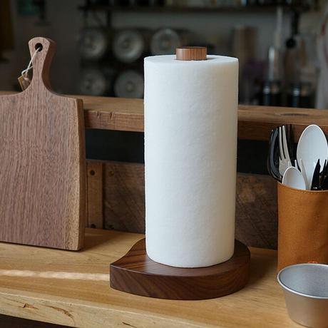 木製キッチンペーパーホルダー ブラックウォールナット