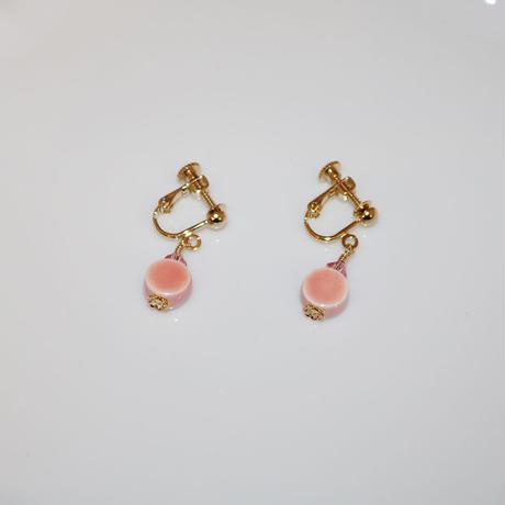 イヤリング 〜 PT1002 pink 〜  Tournesol
