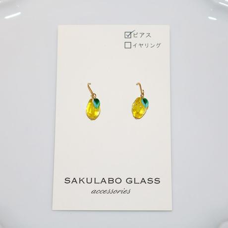 フックピアス 〜レモン〜 SAKURABO GLASS