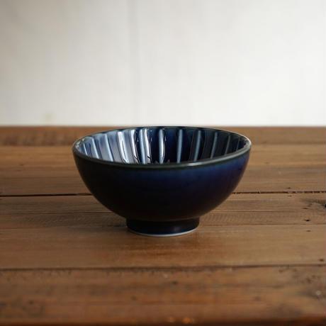 ぎやまん陶〜茶碗〜 茄子紺ブルー