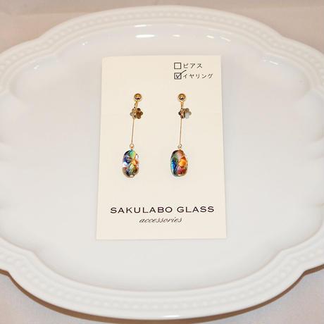イヤリング 〜虹色〜 SAKURABO GLASS