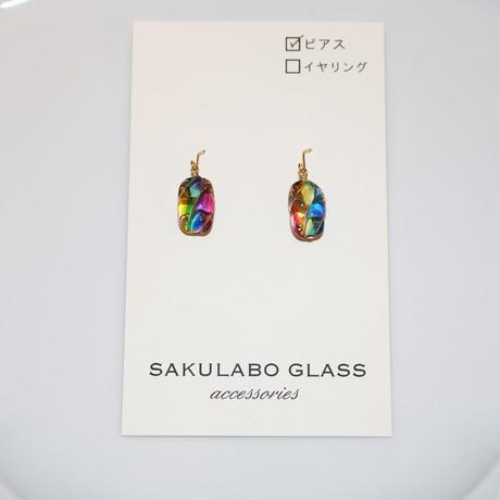 フックピアス 〜虹色〜 SAKURABO GLASS