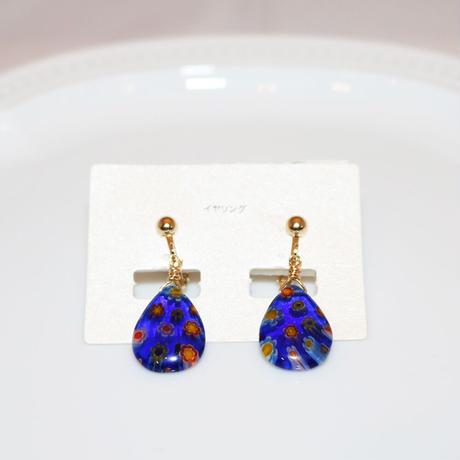 イヤリング 〜 ER008 blue flower 〜  Tournesol