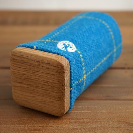 fabric×wood PENSTAND〜ペン立て〜 ブルーライン