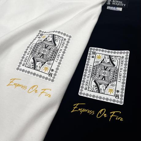 ROYAL MAJESTY -【QUEEN MAJESTY トランプTシャツ -ホワイト】