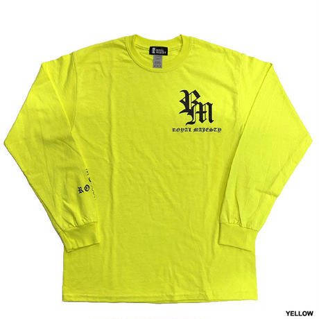 ROYAL MAJESTY -【CROSS ON SLEEVE RIB ロングスリーブTシャツ - LIME GREEN】