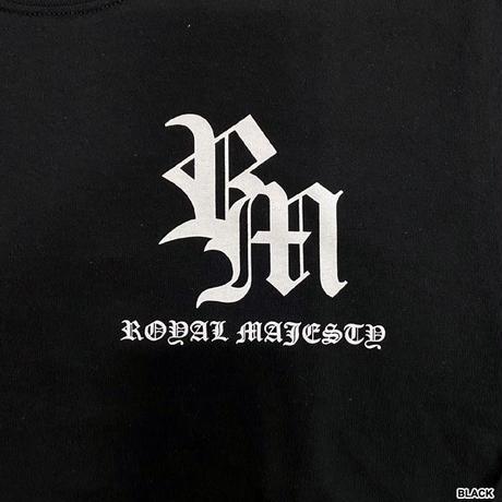 ROYAL MAJESTY -【CROSS ON SLEEVE RIB ロングスリーブTシャツ - BLACK】