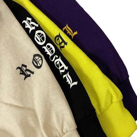 ROYAL MAJESTY -【CROSS ON SLEEVE RIB ロングスリーブTシャツ - PURPLE】