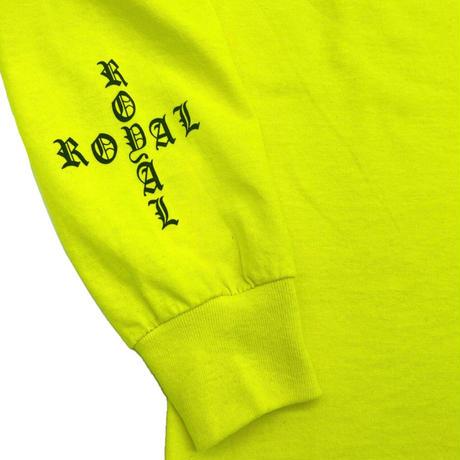 ROYAL MAJESTY -【CROSS ON SLEEVE RIB ロングスリーブTシャツ - LIME GREEN】