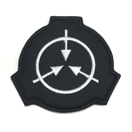 【直径8cm】SCP財団 シンボル黒 刺繍ベルクロワッペン マジックテープ 識別章