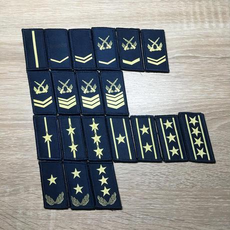 【空軍】中国人民解放軍07式迷彩服用襟章 階級章