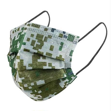 林地迷彩マスク 10枚セット