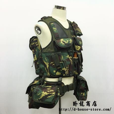 中国人民解放軍 特種兵猟人迷彩10式ベストセット(改良版)
