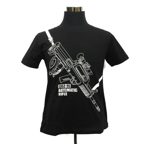 QBZ95-1式自動歩銃柄 Tシャツ 解放軍クラスタグッズ 黒・白