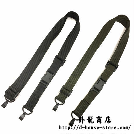 【緑・黒】QBZ-95式 自動歩銃用スリング ナイロン製  実物