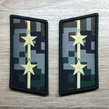 【中尉】中国人民解放軍07式迷彩服用 林地迷彩柄 襟章 階級章