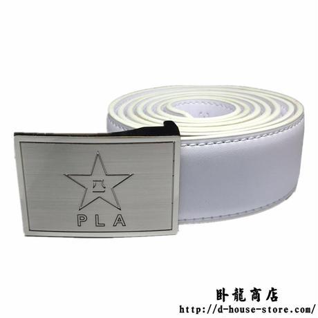 中国人民解放軍07式制服ズボン用革製ベルト(ホワイト)