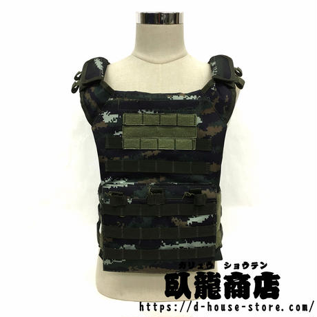 中国人民武装警察 13式特戦迷彩 JPCベスト  ポーチ8点付きセット