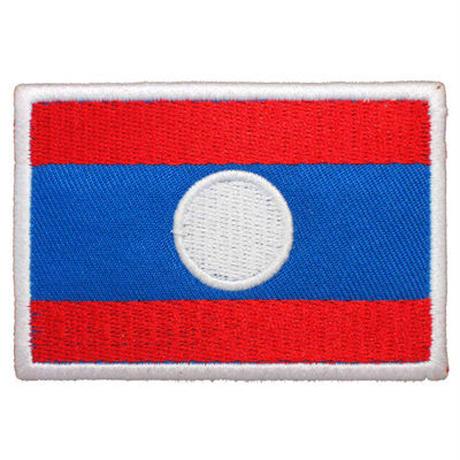 ラオス国旗 ベルクロワッペン マジックテープ