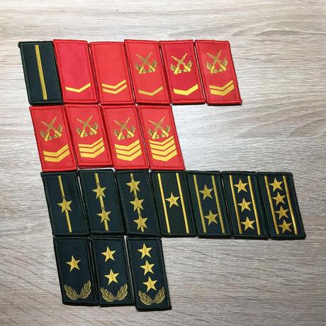 【武警】中国人民解放軍07式迷彩服用襟章 階級章