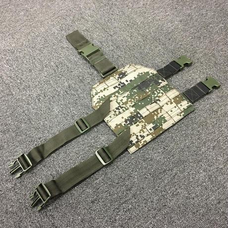 中国人民解放軍 林地迷彩 MOLLE対応レッグパネル