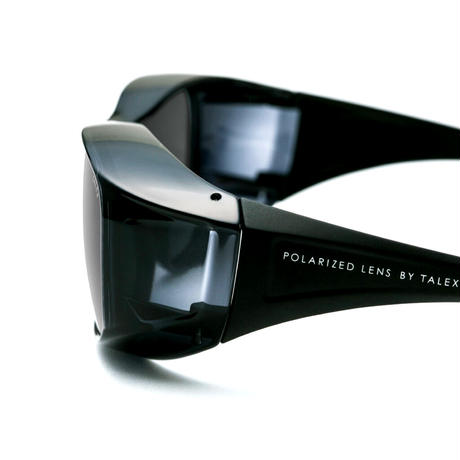 TALEXオリジナルオーバーグラス(グロスダークグレー/マットブラック)EM6-D0302(トゥルービューフォーカス)