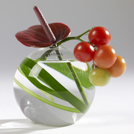 BALL VASE LARGE CLEAR(B0804208)