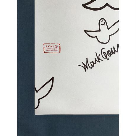 Mark Gonzales × TALKY 掛け軸  <navy × monotone angel >
