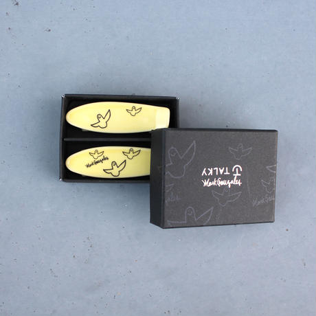 Mark Gonzales / skate board chopstick rest (yellow)