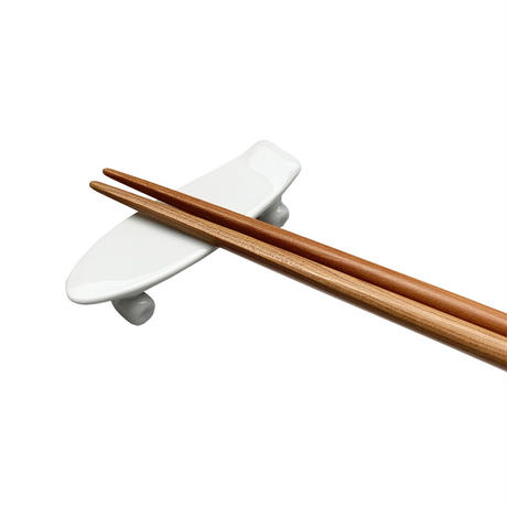 skate board chopstick rest (white)