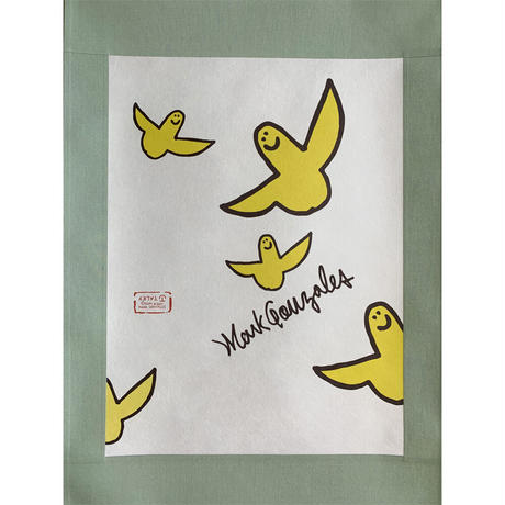 Mark Gonzales × TALKY 掛け軸  <moss green ×  color angel >
