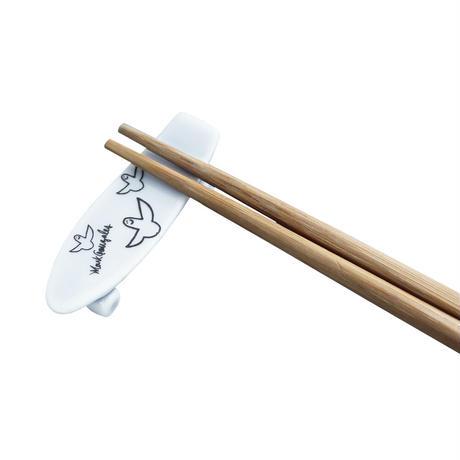 Mark Gonzales / skate board chopstick rest (white)