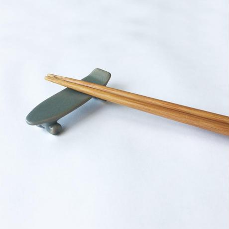 skate board chopstick rest (mat gray)