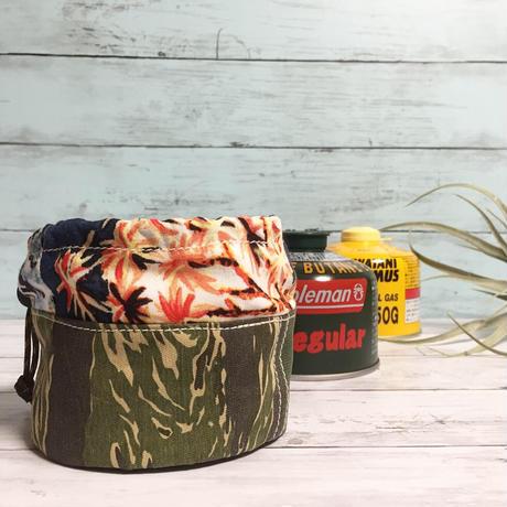 パッチワークOD缶カバー(230/250サイズ)  ガス缶カバー