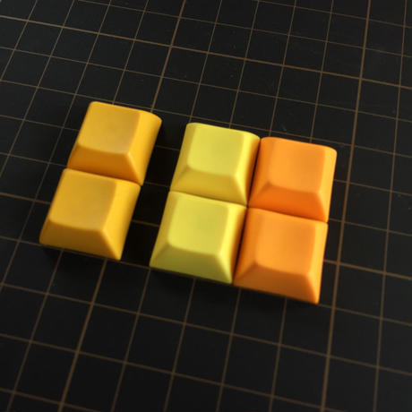 DSA PBT Keycap (2Piece/Dark yellow)
