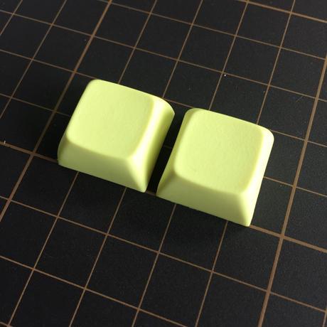 XDA Blank Keycap (2Pieces/Cream Yellow)