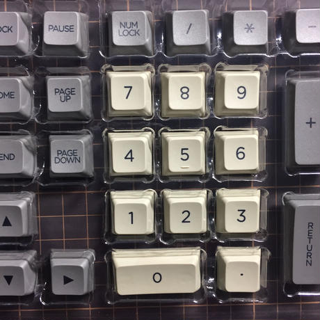 XDA PBT dye-sub 104 Keycap Set(Beige/Brown)
