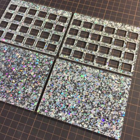 Glitter Acrylic plate for Let's Split Kit