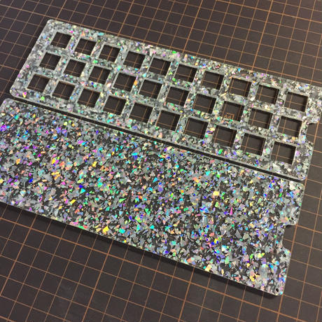 Glitter Acrylic plate for Gherkin Kit