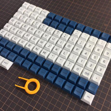 DSA PBT Dye Sub Keycap Set (ALL 1U/White/Blue)