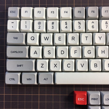 XDA PBT dye-sub 104 Keycap Set(LightGray/Gray)